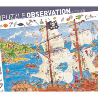 jigsaw, pirates, puzzle, observation, spot objects, creative, children