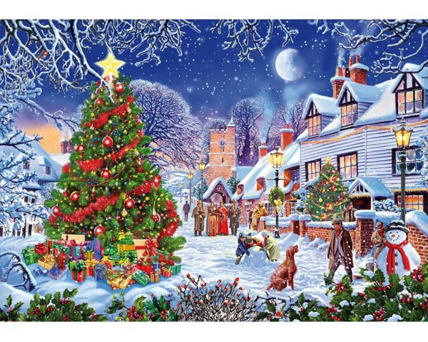 wooden, jigsaw, puzzle, christmas, yorkshire
