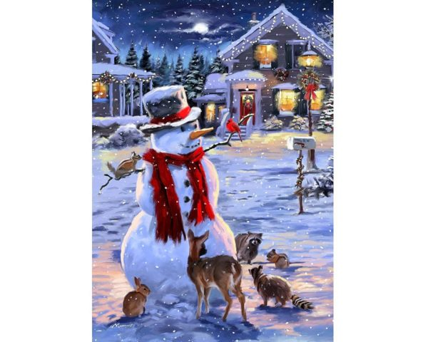 jigsaw, wooden, puzzle, christmas, snowman, yorkshire