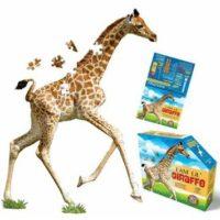 giraffe, puzzle, jigsaw, wall art