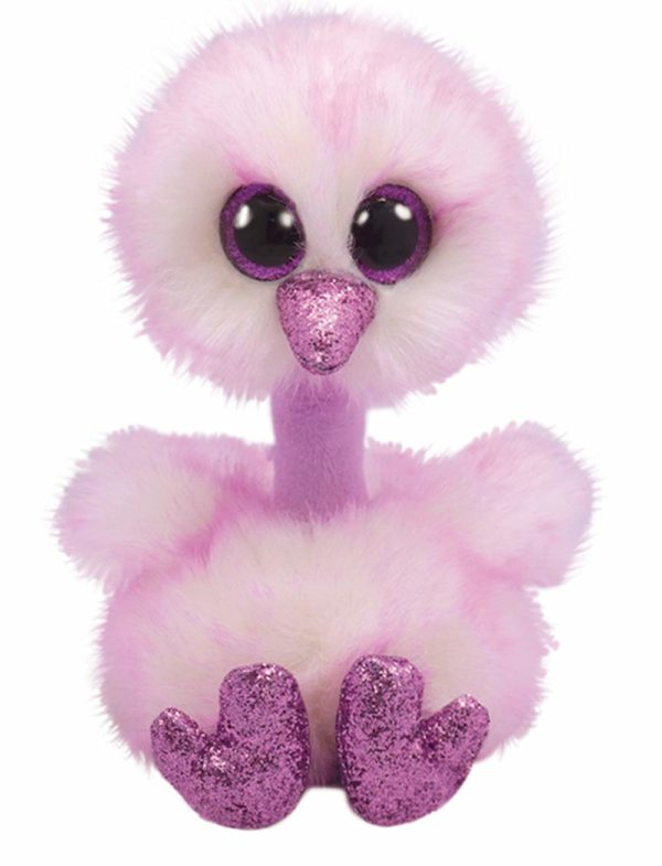 plush, ostrich, soft, collectible, ty