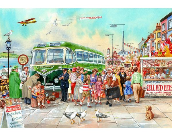 wooden, jigsaw, puzzle, blackpool, seaside, whimsy
