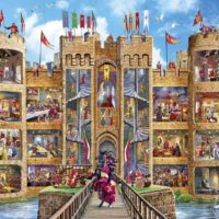 jigsaw, puzzle, relaxing, art, therapy, medieval