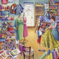 jigsaw, puzzle, sewing, haberdashery, relaxing