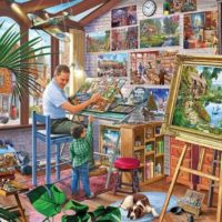 jigsaw, puzzle, art, therapy, relaxing