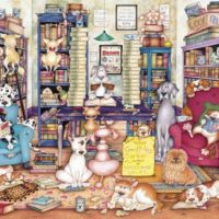 jigsaw, puzzle, art, dogs, relaxing