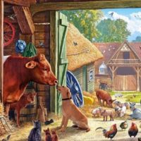 jigsaw, puzzle, farm, relaxing, therapy