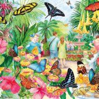 jigsaw, puzzle, art, summer, colours, relaxing