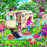 jigsaw, puzzle, holidays, caravans, camping, relaxing
