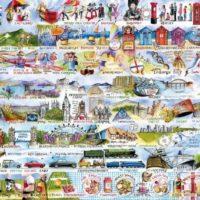 jigsaw, puzzle, british, traditional