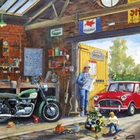 jigsaw, puzzle, art, vintage, retro, relaxing