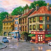 jigsaw, wooden, puzzle, france, city, relaxing