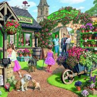 jigsaw, puzzle, relaxing, therapy, seaside, countryside