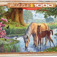 jigsaw, puzzle, gift, horses, relaxing, therapy,