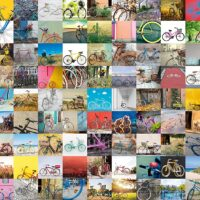 jigsaw, puzzle, relaxing, bicycles city, t