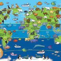 floor puzzle, animals, children, map, harrogate