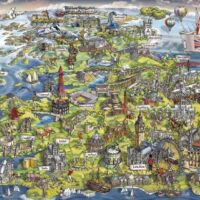 jigsaw, puzzle, map, uk, relaxing