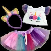 dress, unicorn, rainbow, dress your bear