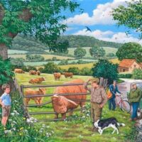 jigsaw, puzzle, hop, relaxing, hobby, extra large pieces, cows