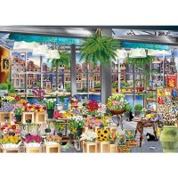 jigsaw, puzzle, flowers, amsterdam, holidays