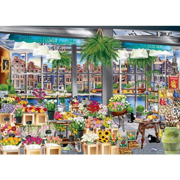 jigsaw, puzzle, flowers, amsterdam, holidays