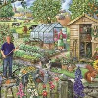 jigsaw, hop, relaxing, puzzle, british
