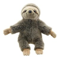 furry, sloth, puppet, soft, imagine, play, pretend