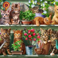 jigsaw, cats, puzzle, relaxing, hobby