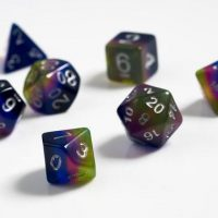 dice, pretty colours, poly 7, rpg