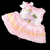 bear making, dress your bear, build a bear, flamingo, pink dress
