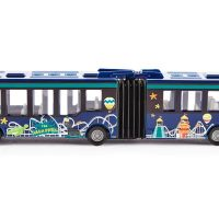 diecast, articulated bus, bendy bus, model car, vehicle,