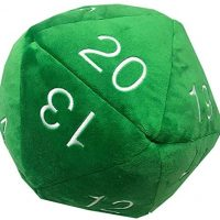 d20, plush, dice, dungeons and dragons, roll