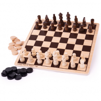 chess, wooden, queens gambit, traditional game