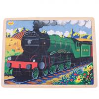 wooden, jigsaw, trains, mallard, scotsman