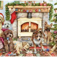 jigsaw, christmas, dogs, falcon, gamescrusade