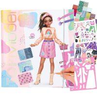 fashion design, colouring, stickers, top model, depesche,